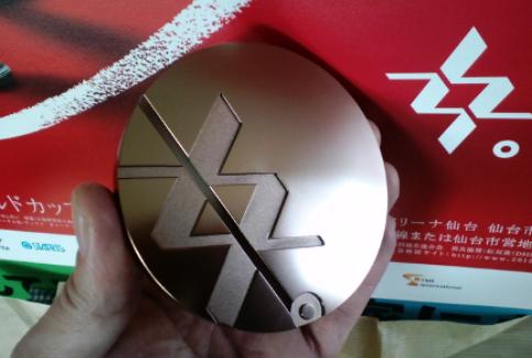 そして、同じく銅メダル。大会ロゴはWomen'sWroldcupのWWと、女をデザインされています。